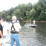 Don Day, Rick Redmon and Curt filming Anglers for Kids