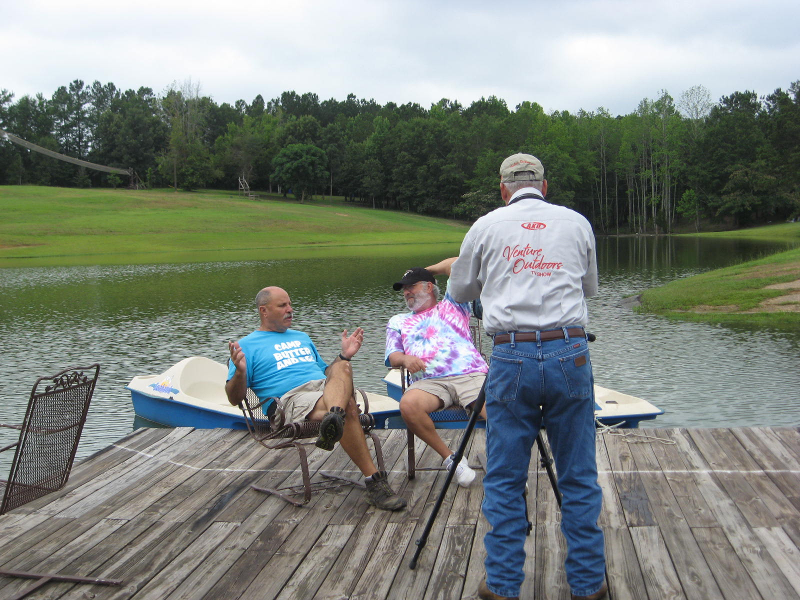 Curt Gantt films interview wit Ron Pierce, Camp Butter and Egg, and Don Day