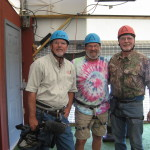 Curt Gantt, Don Day and Steve Kynard suited up to Zipline