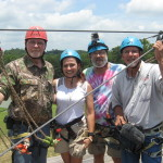 Team It Happens in Alabama and Team Venture Outdoors TV Show Zipline at Camp Butter and Egg