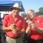 Montgomery Zoo brought out an armadilla and hedgeHog.