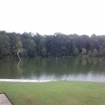 Lake off the big guest house at Ray Scott's Trophy Bass Retreat.
