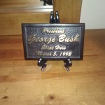 This plaque is on the dresser in the Room where President Bush Sr. slept. http://www.rayscottbassretreat.com