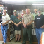 """Venture Outdoors Curt Gantt, BKM Outdoors Brian Keith and """"MO"""", Seed Processors Steve and Seth, Game Warden Keith Mann and Venture Outdoors Host Don Day"""