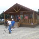 Curt Gantt filming commercial for Leisure Isle Buildings, Wetumpka, AL