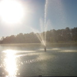 The fountain in the All female Bass Lake