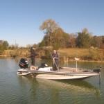 Keith Kirkley, Alabama, caught the first bass..